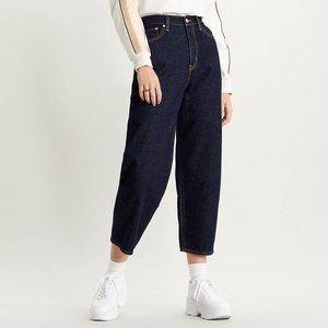 Levi's Balloon Leg High Waisted Dark Wash Jeans 28